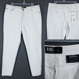 NWT NANA JUDY Boyfriend Jeans White Low The Bonnie